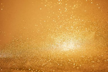 golden christmas background with glossing sequins