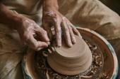 zár megjelöl kilátás a szakmai potter díszítő agyagedényt workshop