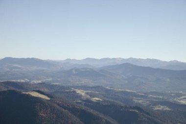 Scenic green mountains landscape, Carpathians, Ukraine stock vector