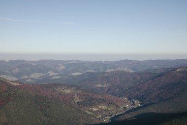 Scenic mountains landscape, Carpathians, Ukraine stock vector