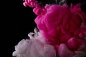 Fotografie abstraktní pozadí s růžovou cákanec barvy