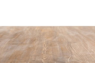 Brown wooden textured background on white stock vector
