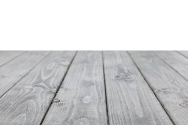 Grey striped wooden surface on white stock vector
