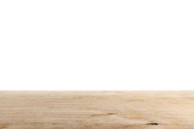 Light brown wooden background on white stock vector