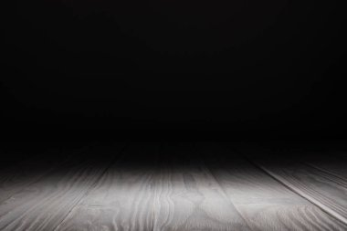 light grey striped wooden background on black