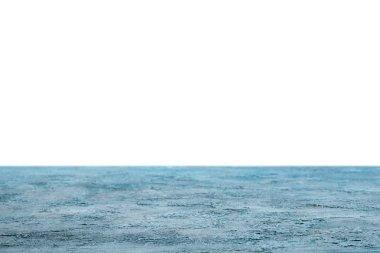 Blue shabby wooden background on white stock vector
