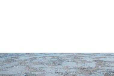 Blue shabby textured background on white stock vector