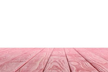 Pink striped wooden background on white stock vector