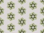 Fotografie koláž zelených listů izolován na vzor šedé, bezešvé pozadí