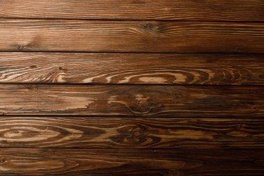 Top view of brown textured wooden background stock vector