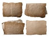 starožitný prázdné Pergamenové listy izolované na bílém