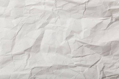 white blank crumpled page with copy space