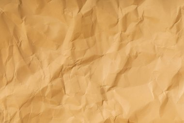 beige blank crumpled page with copy space