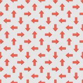 collage of red arrows in different directions on grey background, seamless background pattern
