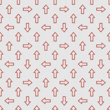 Collage of seamless background pattern with red pointers on grey background stock vector