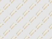 diagonal befindet sich Bambus Zahnbürsten und Zahnpasta in Tuben auf grauem Hintergrund, nahtlose Hintergrundmuster