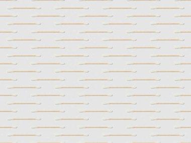 horizontally ear sticks on grey background, seamless background pattern