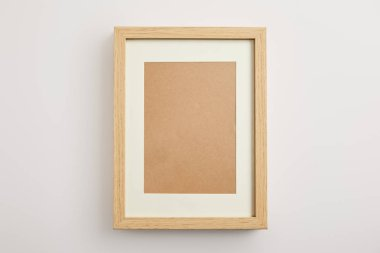 Decorative square frame on white background stock vector