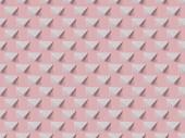 Půdorys bytu ležela s bílým a prázdné obálky izolované na růžové