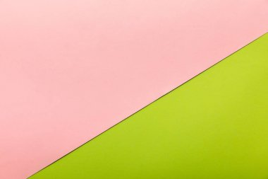 Birght pink and green background with copy space stock vector