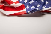 Photo american flag on white background with copy space