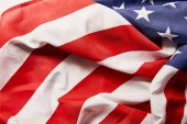 Fotografie close up view of crumpled national american flag