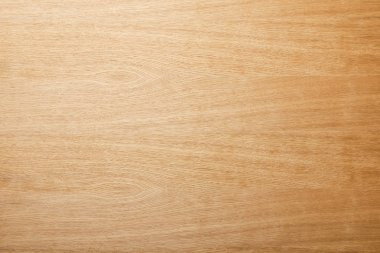 Top view of empty beige wooden surface with copy space stock vector