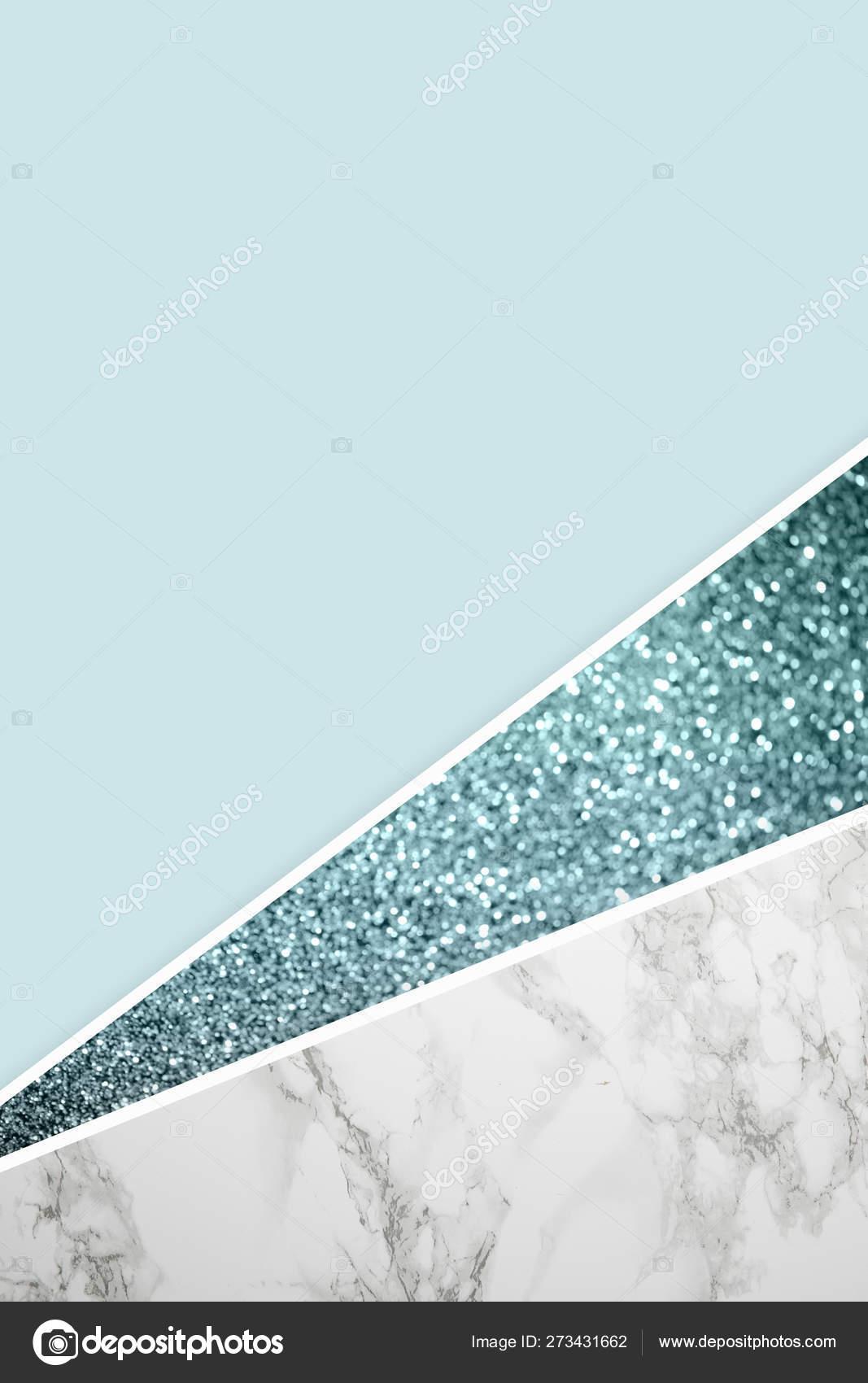 Marble Wallpaper Light Blue