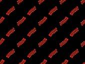 Vörös organikus egész Cseresznyeparadicsom izolált fekete, folytonos háttér mintázat