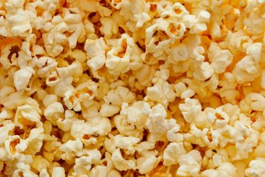 Top view of delicious crunchy fresh popcorn stock vector