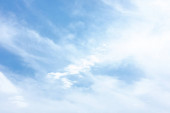modrá obloha s mraky v létě