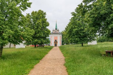 Baroque pilgrim place Skalka near the city Mnisek pod Brdy in Central Bohemia - Church - Czech Republic
