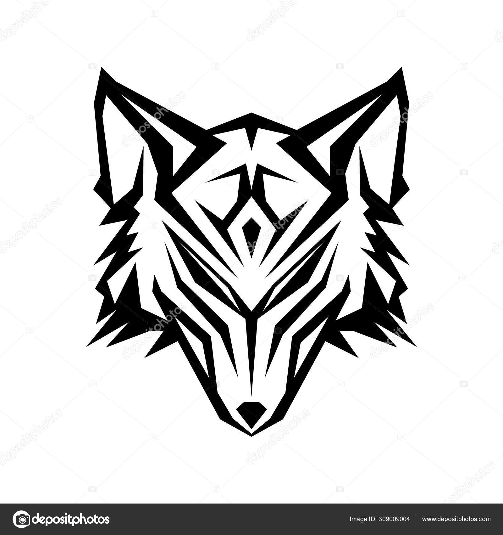 Abstract Head Wolf Icon With Color Black On The White Background Stock Vector C Taawon 309009004 Character, cute, fierce, inkcontober, wolf svg vector icon. abstract head wolf icon with color black on the white background stock vector c taawon 309009004