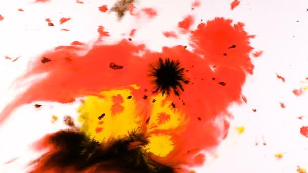 Tinte auf einem nassen Blatt, psychedelische abstrakte Spray auf Papier Aquarellfarbe tropft