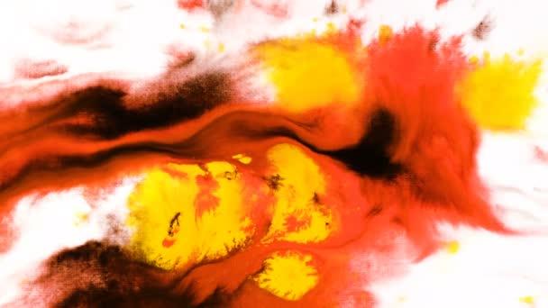 Aquarellfarbe Tintentropfen auf ein nasses Blatt, psychedelische abstrakte Spray auf Papier