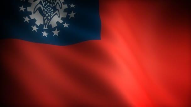 Zászló Mianmar (zökkenőmentes)