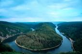 Fotografie Saar loop close to Mettlach, Germany.