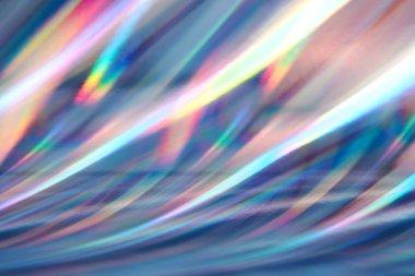 Multicolored background imitating hologram.