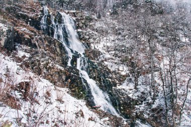 Todtnauer waterfall at wintertime. Black forest, Germany.