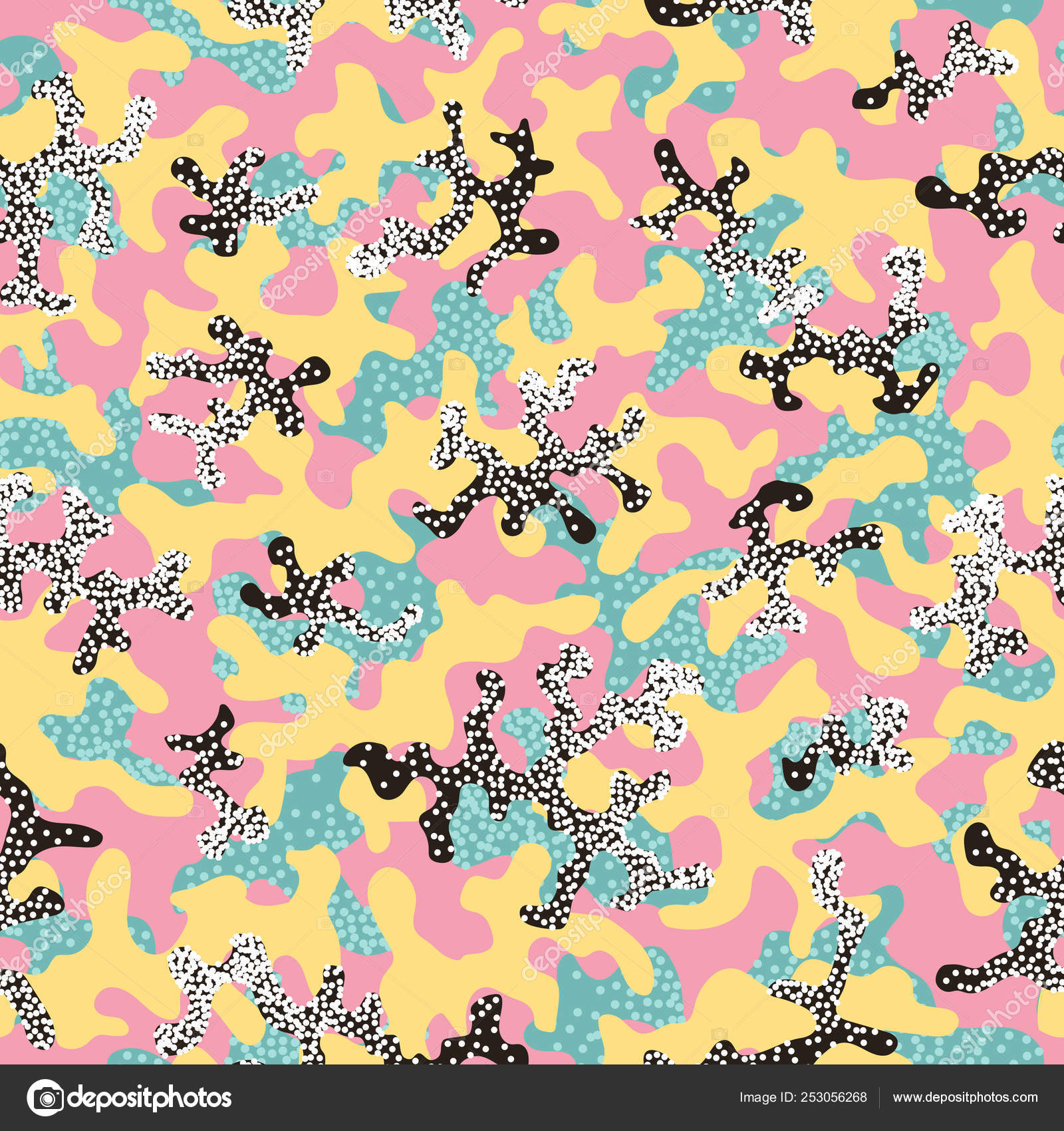 ab8b26a8d3ab Abstract camouflage, fashion seamless pattern background. Cool ...