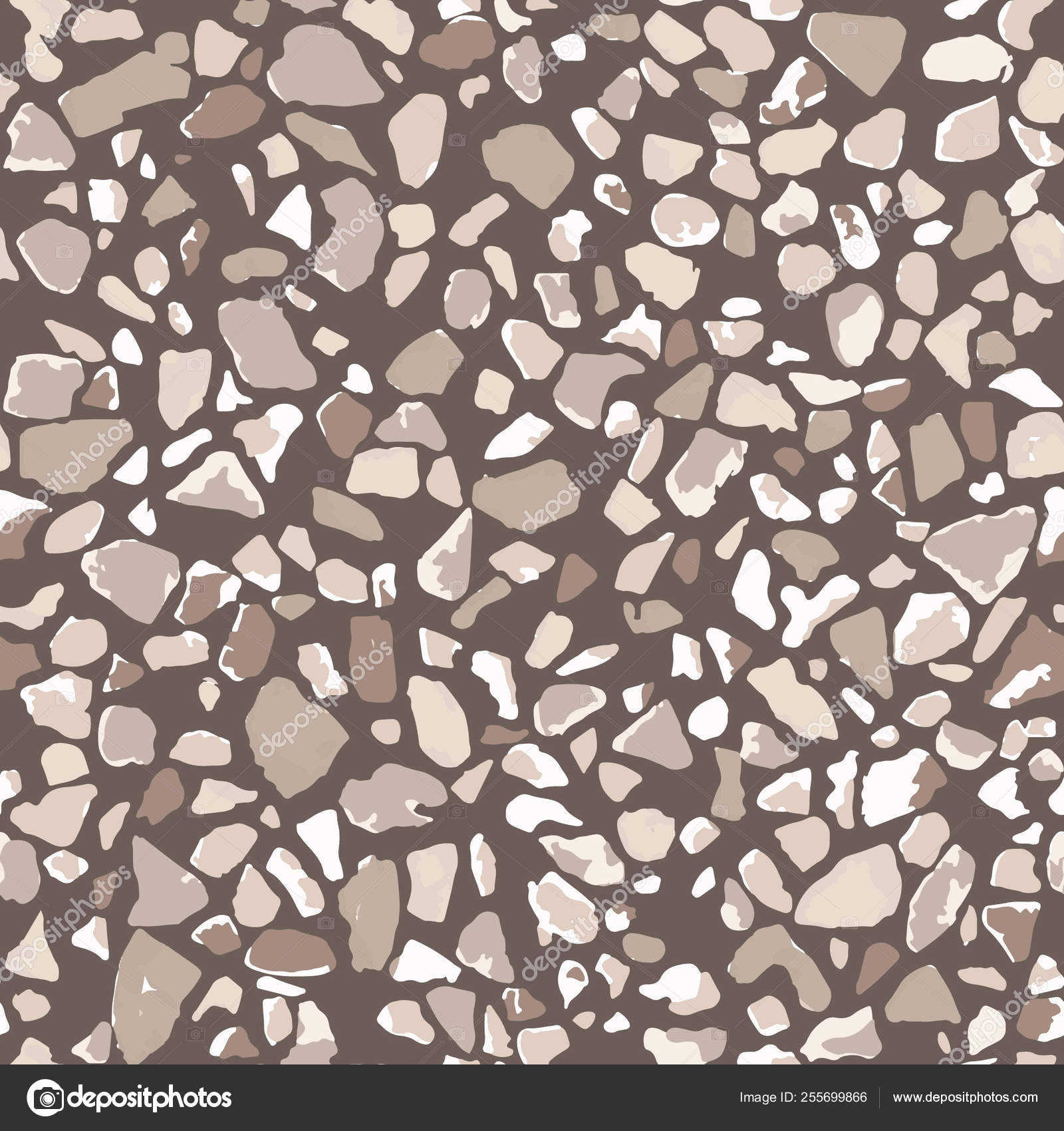 Terrazzo Flooring Seamless Pattern Brown Background