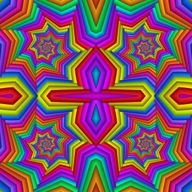"""Картина, постер, плакат, фотообои """"Многоцветная абстрактный праздничный яркий бесшовные. Кафельный этнические"""", артикул 249057196"""