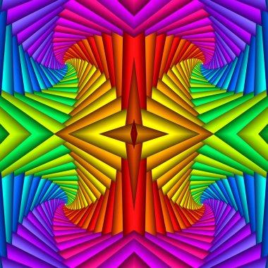 """Картина, постер, плакат, фотообои """"многоцветный бесшовный абстрактный яркий праздничный узор. плиточный этнический изображение цветы"""", артикул 249057534"""