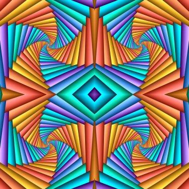 """Картина, постер, плакат, фотообои """"бесшовный вихревой абстрактный праздничный узор, синий, оранжевый. пэт пэт """", артикул 302102658"""