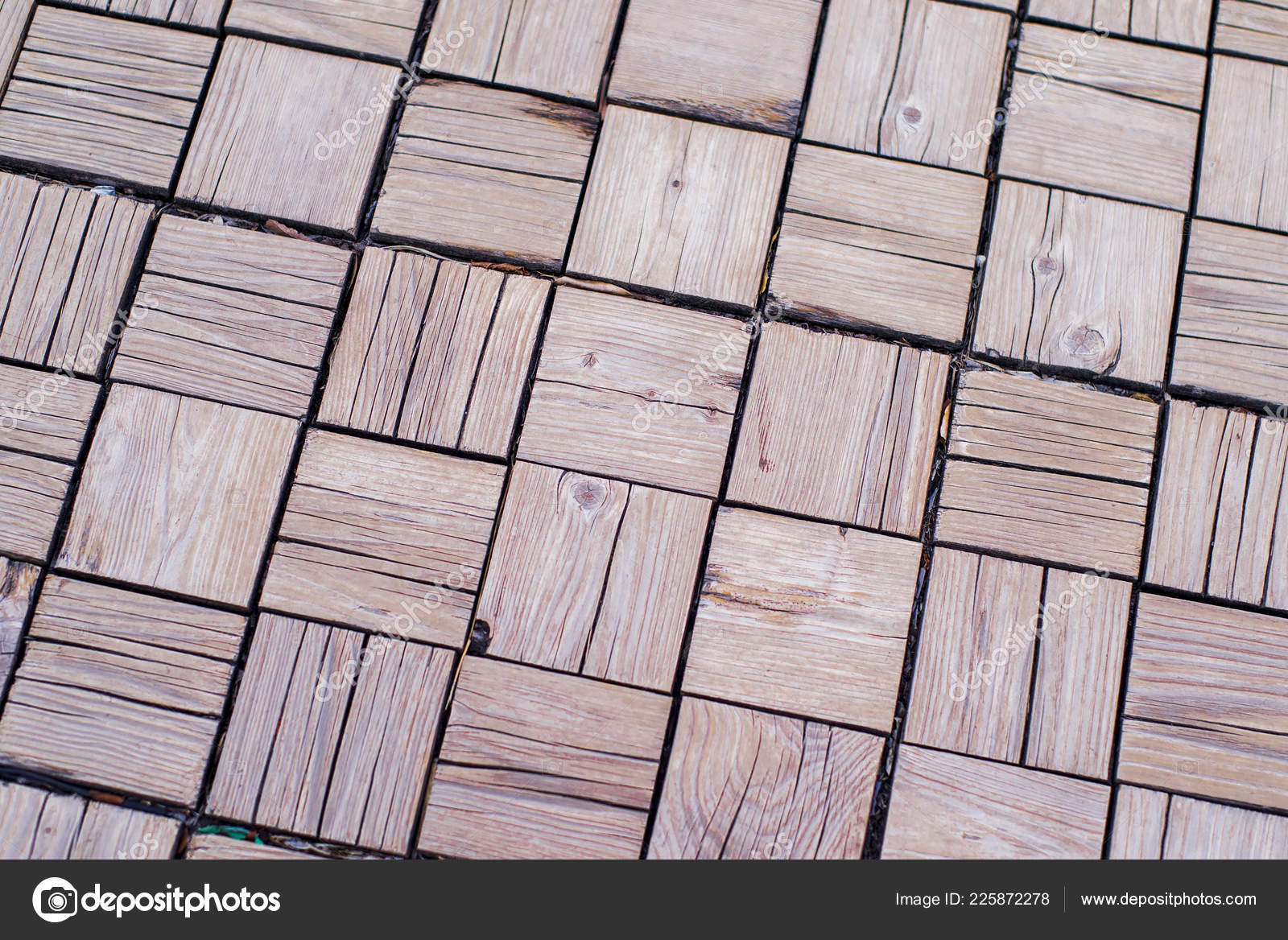 Imitation Wood Paving Tiles Imitation Wood Stock Photo Nkooume