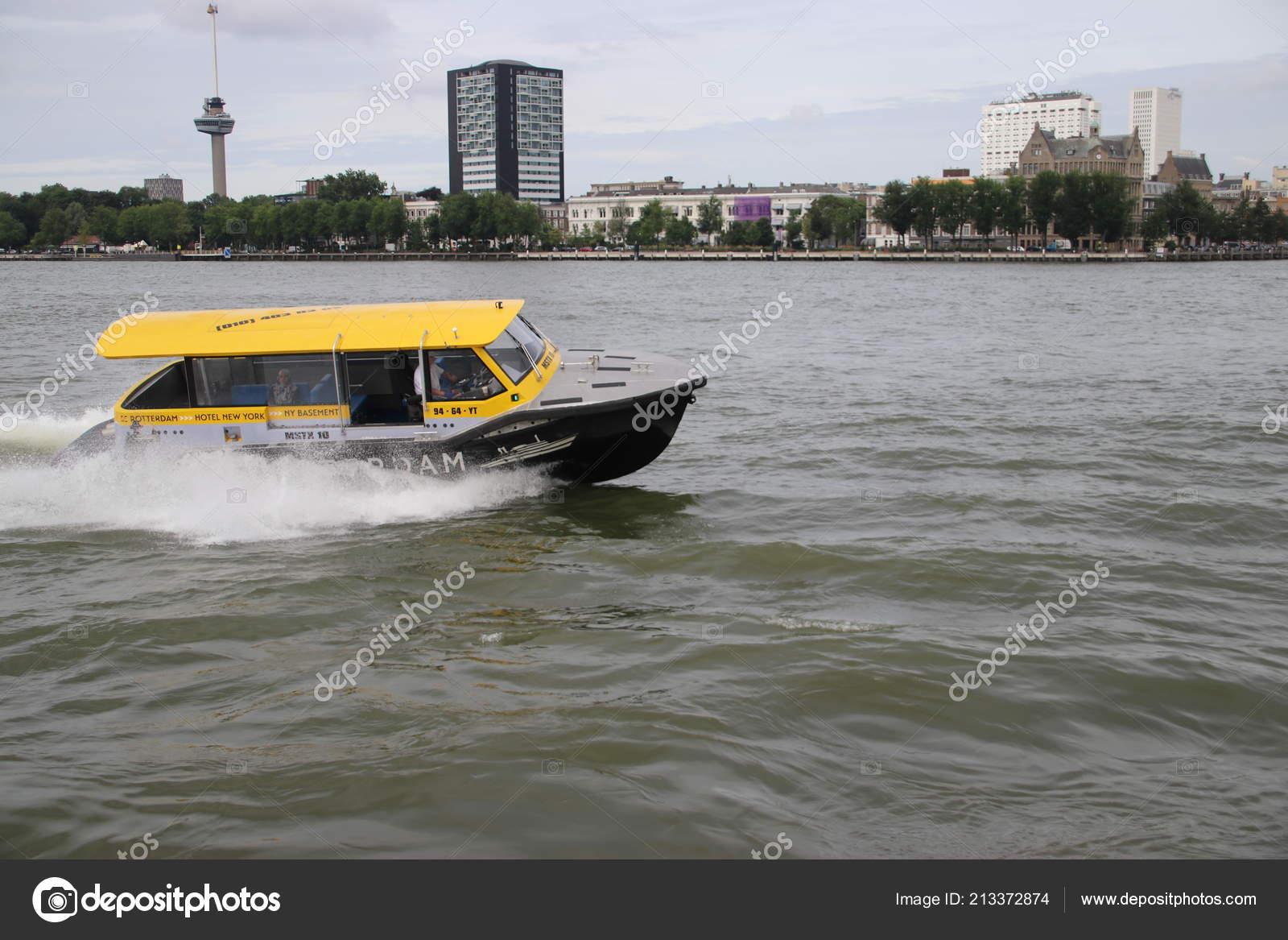 Water Taxi High Speed River Nieuwe Maas Rotterdam Fast Transport