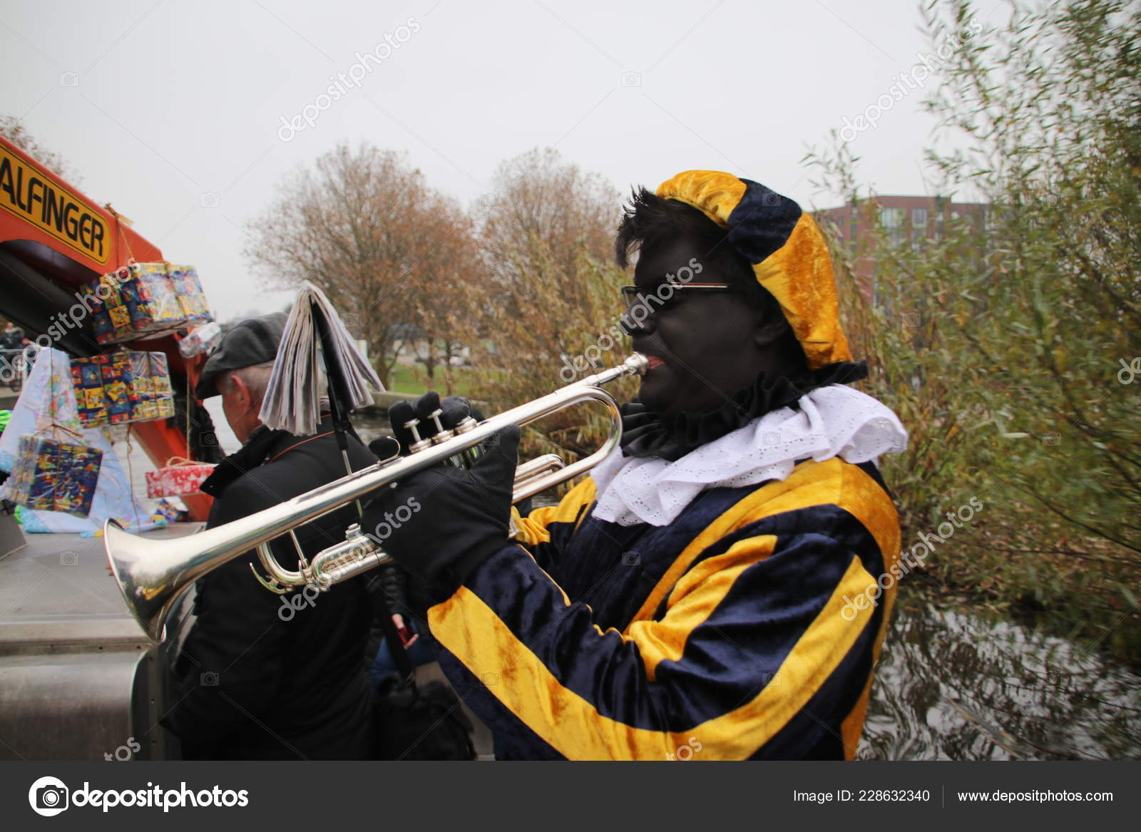 Black Pete Helper Dutch Traditional Celebration Sinterklaas
