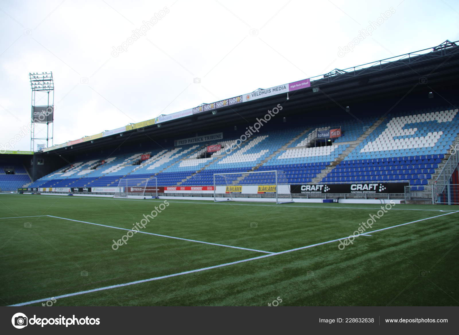 Footbal Soccer Stadium Eredivisie Team Pec Zwolle Netherlands Stock Editorial Photo C Cakifoto 228632638