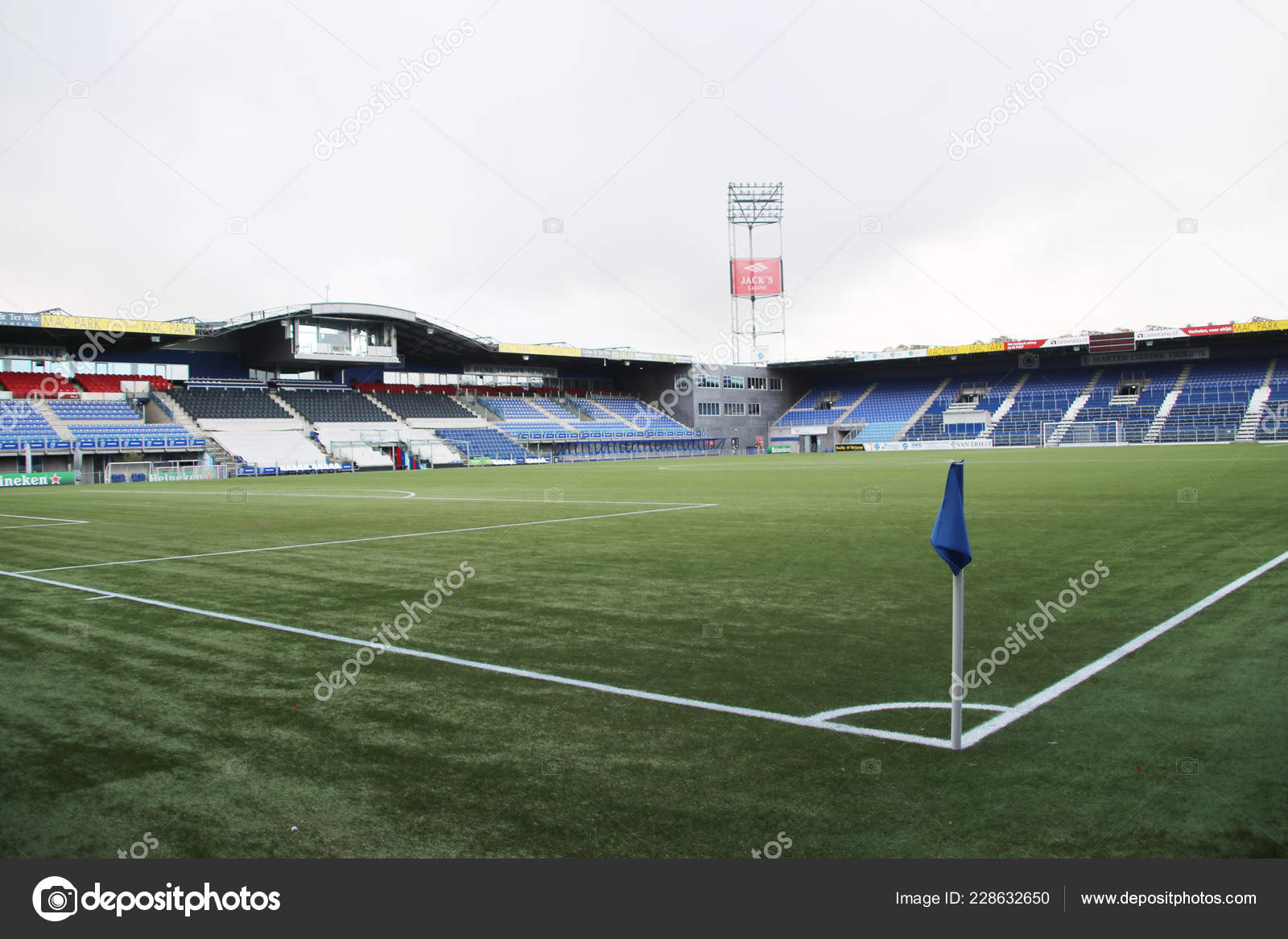 Footbal Soccer Stadium Eredivisie Team Pec Zwolle Netherlands Stock Editorial Photo C Cakifoto 228632650