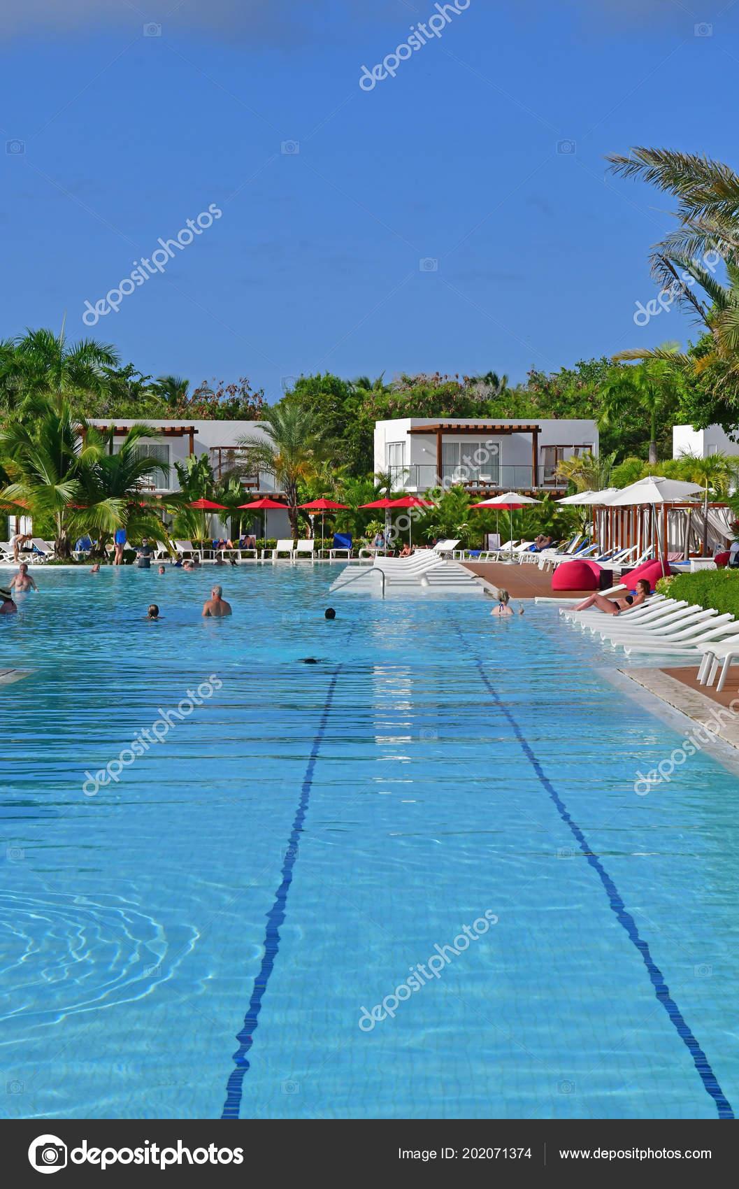 punta cana dominican republic june 2017 pool hotel stock editorial